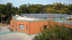 solar panels on a school roof