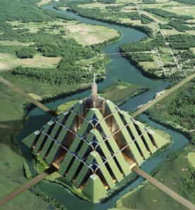 similarities between ziggurats and pyramids